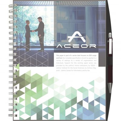 "ClearView™ Journal - Large NoteBook w/PenPort & Pen (8.5""x11"")"