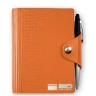 "Leather Wrap™ Deluxe - Mini-Snap Wrap Journal w/Pen (3.75""x5"") Refillable"