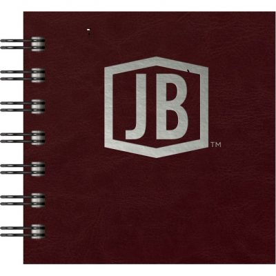 "Luxury Cover Series 4 Square JotterPad w/Black Paperboard Back Cover (4""x4"")"