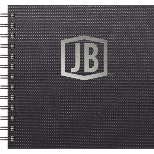 """Luxury Cover Series 4 - Square NotePad w/Black Paperboard Back Cover (7""""x7"""")"""