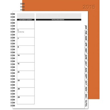 "The Director™ Monthly Planner - Leather Front / Chip Back (8.5""x11"")"