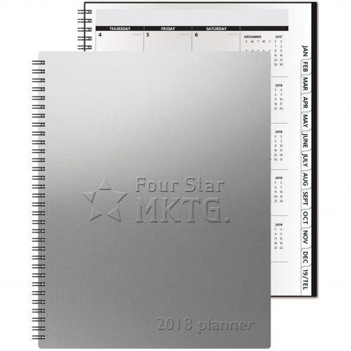 """TheAnalyst™ Monthly Planner - Alloy Front/Chip Back (8.5""""x11"""")"""