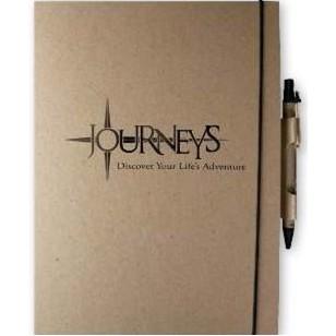 "EcoWrap™ Large NotePad w/ Pen (7""x10"")"