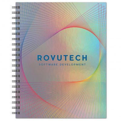 """Holographic Rainbow - Large NoteBook (8.5""""x11"""")"""