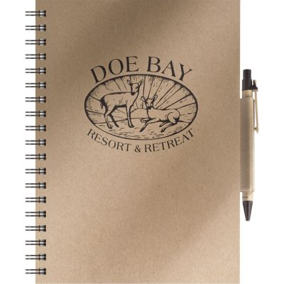 "EcoBooks Medium EcoNotes NoteBook w/EcoPort® & Pen (8.5""x11"")"