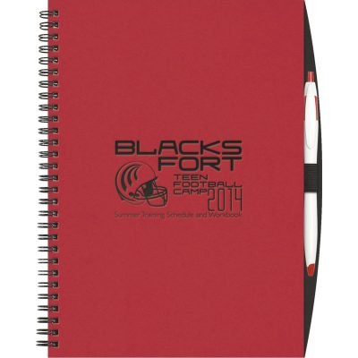 "ValueBook™ ValueLine NoteBook w/PenPort and Cougar Pen (7""x10"")"