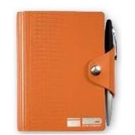 "Deluxe LeatherWrap™ Mini-Snap Wrap Refillable Journal w/Pen (3.75""x5"")"