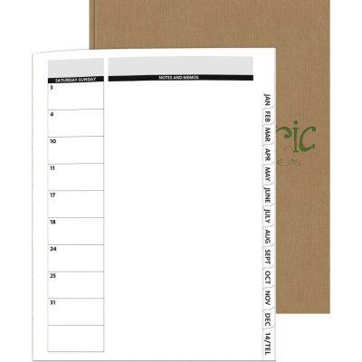 """PerfectPlanners™ Linen Director Monthly Planner (8.5""""x11"""")"""