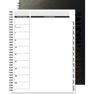 "TheDirector™ Deluxe Front Monthly Planner w/Chip Back (8.5""x11"")"
