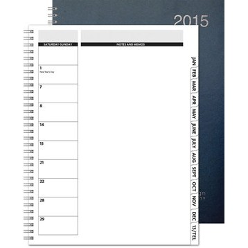 "TheDirector™ Leatherette Monthly Planner (8.5""x11"")"